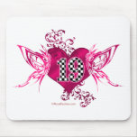 19 racing number butterflies mouse pad