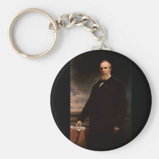 19 Rutherford B. Hayes Basic Round Button Keychain