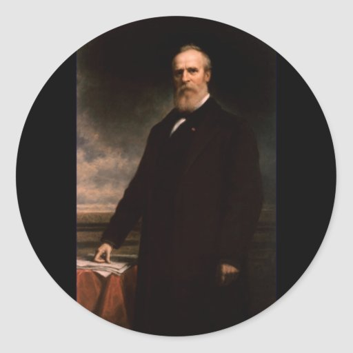 19 Rutherford B. Hayes Classic Round Sticker