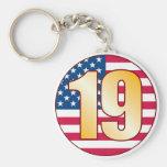 19 USA Gold Keychain