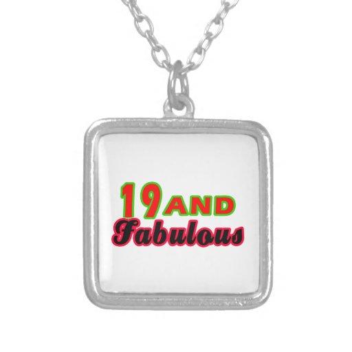 19 y diseños fabulosos del cumpleaños collar personalizado
