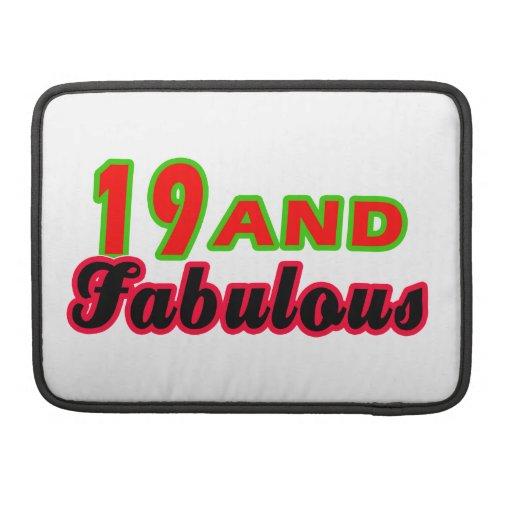 19 y diseños fabulosos del cumpleaños funda para macbooks