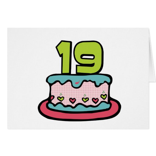 19 Year Old Birthday Cake Cards