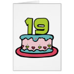 19 Year Old Birthday Cake Greeting Card