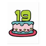 19 Year Old Birthday Cake Postcards