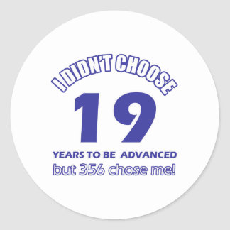 19 years advancement classic round sticker