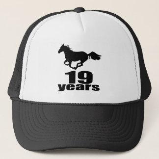 19 Years Birthday Designs Trucker Hat