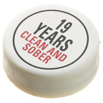 19 Years Clean and Sober Chocolate Dipped Oreo