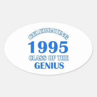 19 years Old birthday designs Oval Sticker