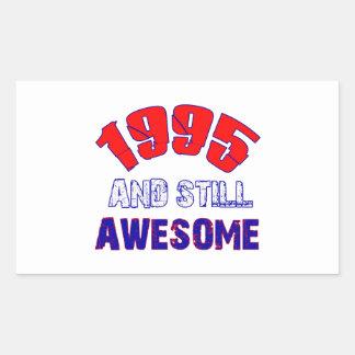 19 years Old birthday designs Rectangular Sticker