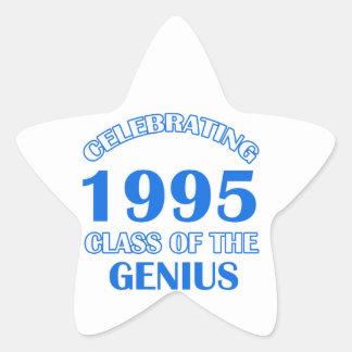 19 years Old birthday designs Star Sticker