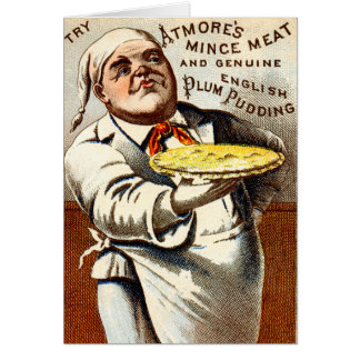 19C Atmores Mincemeat Pie + Plum Pudding Card