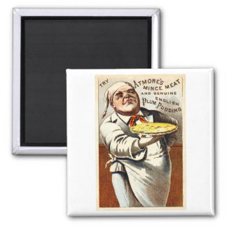 19C Atmores Mincemeat Pie + Plum Pudding Refrigerator Magnets