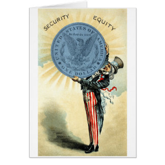 19C Uncle Sam Likes Silver Card