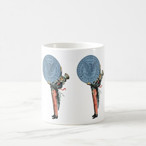 19C Uncle Sam Likes Silver Coffee Mug