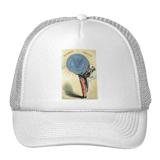 19C Uncle Sam Likes Silver Trucker Hat