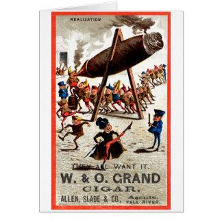 19C Vintage Grand Cigar Card