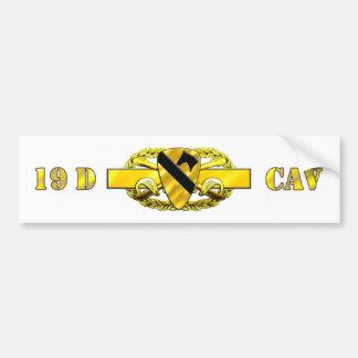 19D 1st Cavalry Division Bumper Sticker