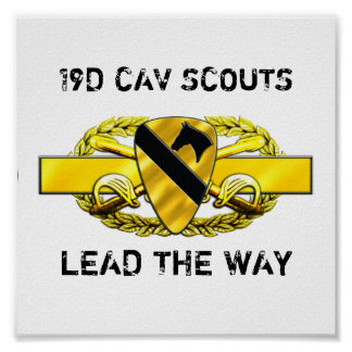 19D 1st Cavalry Division Poster