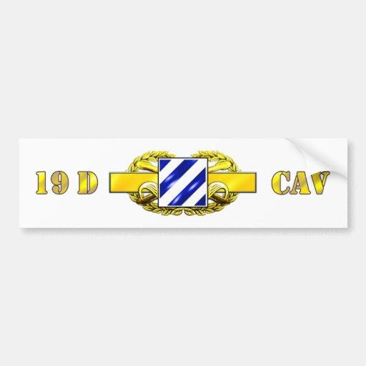 19D 3RD Infantry Division Bumper Sticker