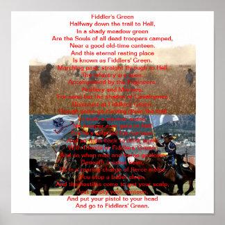 19D Poem Fiddler's Green Posters