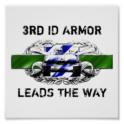 19K 3rd Infantry Divisi ARMOR, LEADS THE WAY Poster