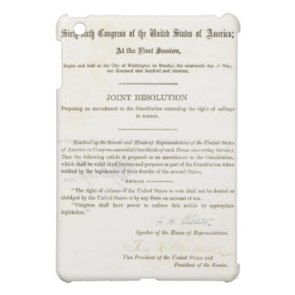 19th Amendment to the United States Constitution iPad Mini Cases