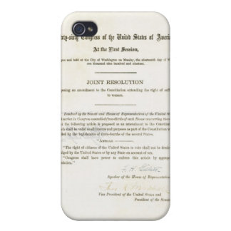 19th Amendment to the United States Constitution iPhone 4 Covers