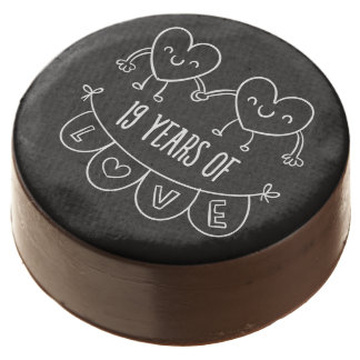19th Anniversary Gift Chalk Hearts Chocolate Covered Oreo