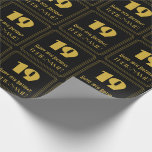 """[ Thumbnail: 19th Birthday – Art Deco Inspired Look """"19"""" & Name Wrapping Paper ]"""
