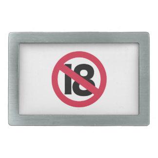 19th birthday rectangular belt buckle