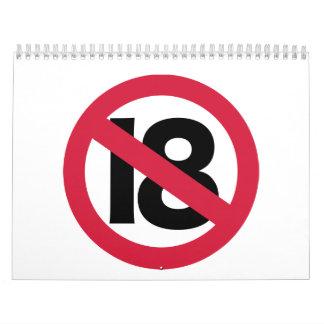 19th birthday calendar