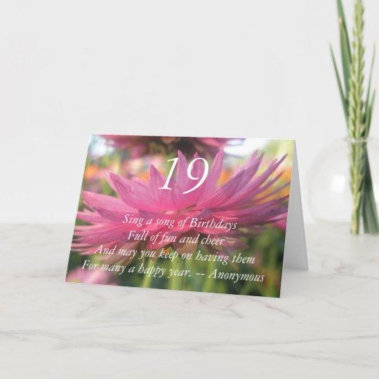 19th Birthday Card Zazzle