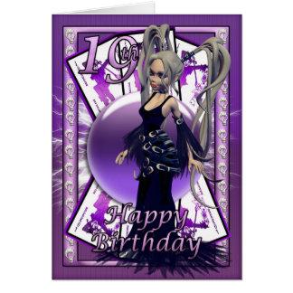 19th birthday card, happy 19th Gothic Doll Bday Card