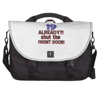 19th birthday designs laptop bags