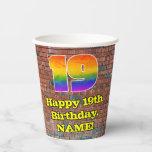 [ Thumbnail: 19th Birthday: Fun Graffiti-Inspired Rainbow 19 ]
