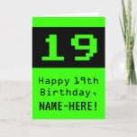"""[ Thumbnail: 19th Birthday: Nerdy / Geeky Style """"19"""" and Name Card ]"""
