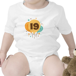19th Birthday Party Gift Idea Baby Bodysuits