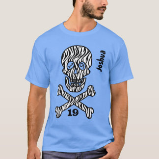 19th Birthday Skull and Crossbones 19 Years V02PA T-Shirt