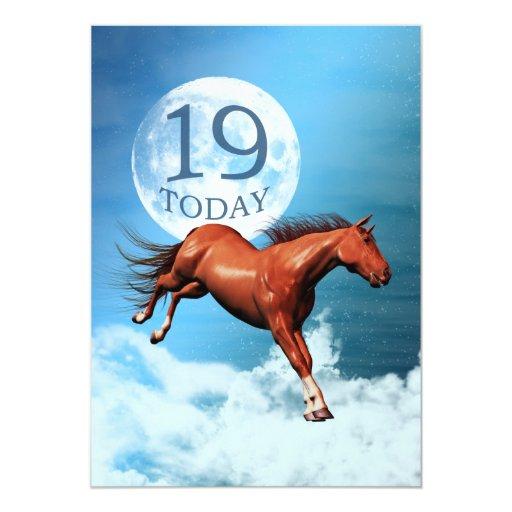 19th birthday Spirit horse party invitation