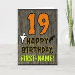 [ Thumbnail: 19th Birthday: Spooky Halloween Theme, Custom Name Card ]