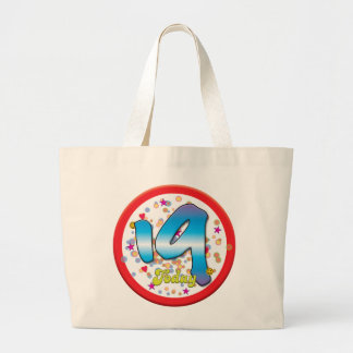 19th Birthday Today Large Tote Bag
