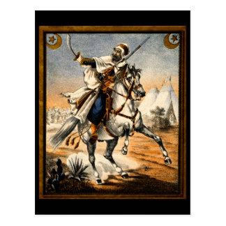 19th C. Arabian Warrior Postcard