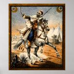19th C. Arabian Warrior Poster