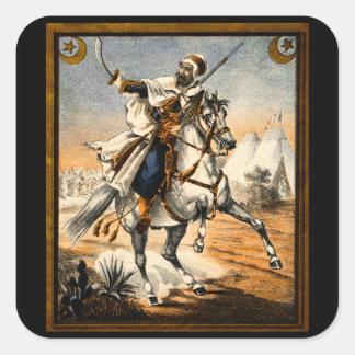 19th C. Arabian Warrior Square Sticker