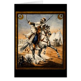 19th C. Arabian Warrior Stationery Note Card