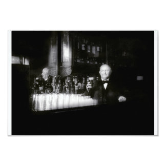 "19th C. Bartender 3.5"" X 5"" Invitation Card"