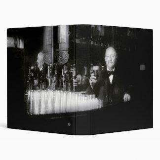 19th C. Bartender Vinyl Binder