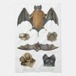 19th C. Bat Print Hand Towel