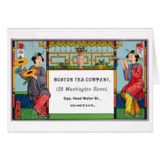 19th C Boston Tea Company Card